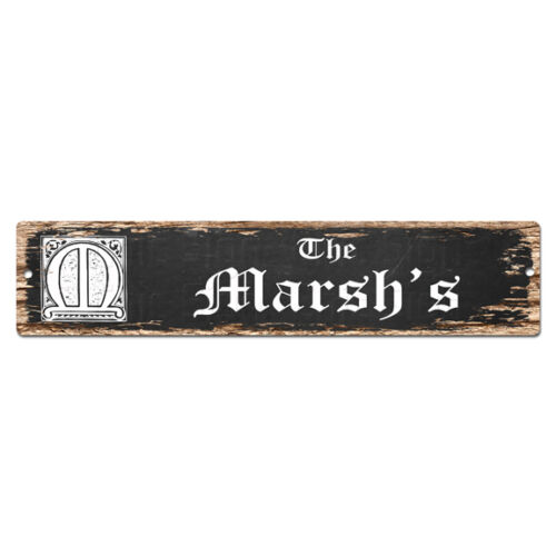 SPFN0494 The MARSH/'S Family Name Street Chic Sign Home Decor Gift Ideas