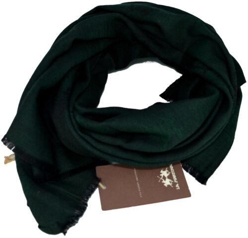 Sciarpa Uomo Donna  Verde Scuro La Martina Scarf Wool 120 Scarves Wool Dark G...