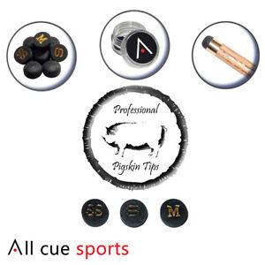 Professional-Multi-Layered-Pigskin-11mm-Snooker-Cue-Tips-S-Soft-Soft-Medium