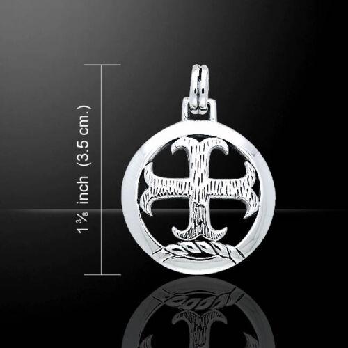 Chevaliers Templiers Croix Argent Sterling .925 Pendentif par Peter Stone