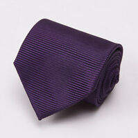 $255 Tom Ford Silk Tie Solid Royal Purple Woven Twill Pattern Slim 3 on sale