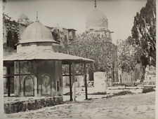 c.1880 PHOTO  HOLY LAND LITTLE MOSQUE IN GROUNDS OF MOSQUE OMAR JERUSALEM
