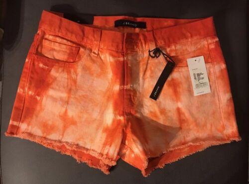 Sz Nwt 2 Denim J di Pantaloncini vita a marca bassa orange 4 corti 26 Red 4wPqx0