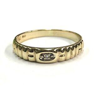 Damenring-aus-10-kt-Gold-mit-0-02-ct-Diamanten-Gr-53-EU