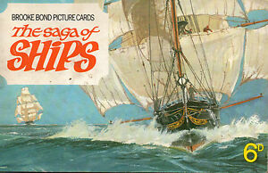 Brooke Bond Tea 034SAGA of SHIPS034 partial card set in album some cards missing - <span itemprop='availableAtOrFrom'>East Sussex, United Kingdom</span> - Brooke Bond Tea 034SAGA of SHIPS034 partial card set in album some cards missing - East Sussex, United Kingdom