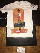 Jordan Fly89 Pop Up Radio Raheem 40 Acres DTRT T-shirt White Sz Small Spike Lee