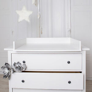 Round edges changing table top for ikea hemnes drawer without dresser ebay - Hemnes ikea dressing table ...