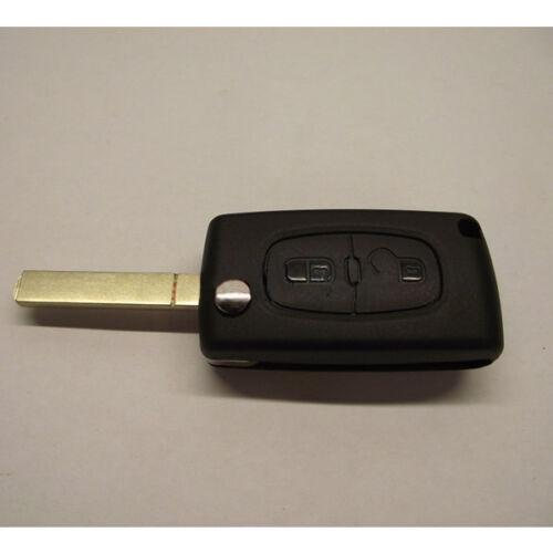 Chiave 2 Tasti Guscio COMPATIBILE CON Peugeot 107 207 307 407 106 206 306 406 dq