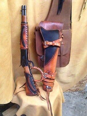 Leather Gunstock Cover Forearm Ranch Hand Mares Leg Holster Henry Rossi  Western | eBay
