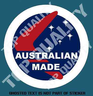 VINTAGE REVERSE PRINT AUSTRALIAN MADE DECAL STICKER PATRIOTIC DECAL STICKERS