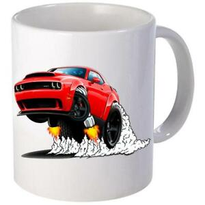 Srt Hell Cat Dodge Long Green Hell Cat Vertical Coffee Mug