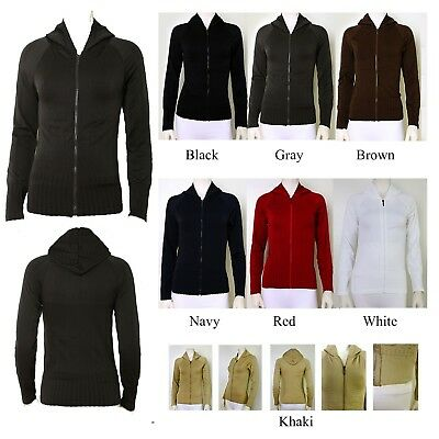 TD Hoodie,Solid Hooded Long Sleeve Full Front Zip Up Jacket  Polyester Spandex