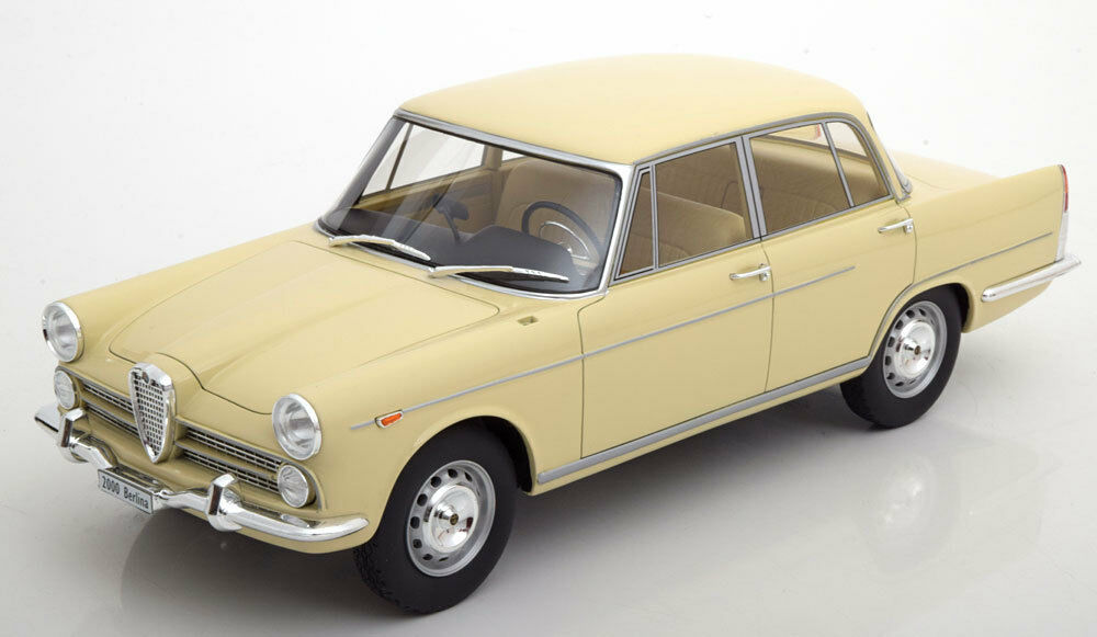 1958 Alfa Romeo 2000 Saloon Saloon Saloon Creme by BoS Models LE of 1000 1 18 Scale. New  90a298