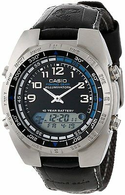Casio AMW700B-1A Men's Analog Digital Fishing Timer Moon Data Watch