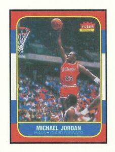 STICKER of 1986-87 Fleer Michael Jordan Rookie Card  Chicago Bulls