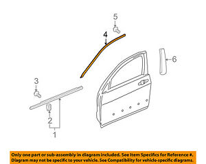 acura honda oem 09 14 tl front door upper molding trim left  image is loading acura honda oem 09 14 tl front door