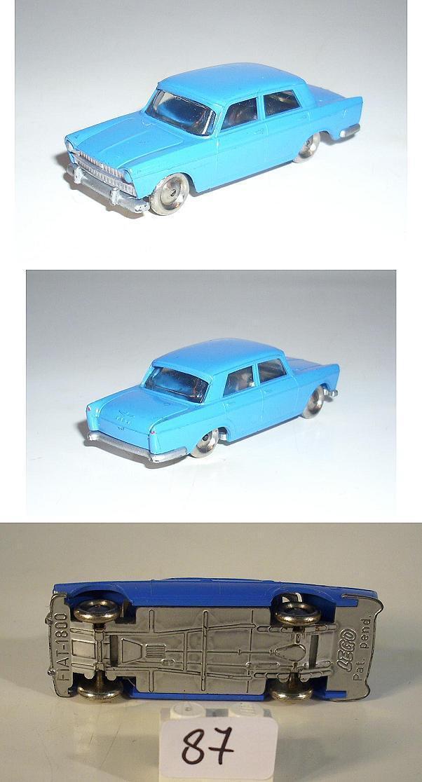 Lego 1 87 Fiat 1800 Limousine blau -rare Farbe- 60er Jh.  87