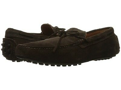 New in Box FRYE Mens Allen Tie Slip-On Loafer Shoes Chocolate Suede 11 D $ 228