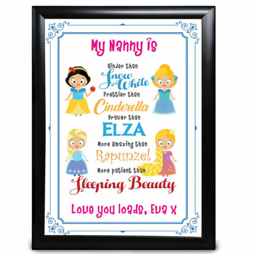 Personalised Disney Princess Niece Gift Birthday Christmas Thank You Presents