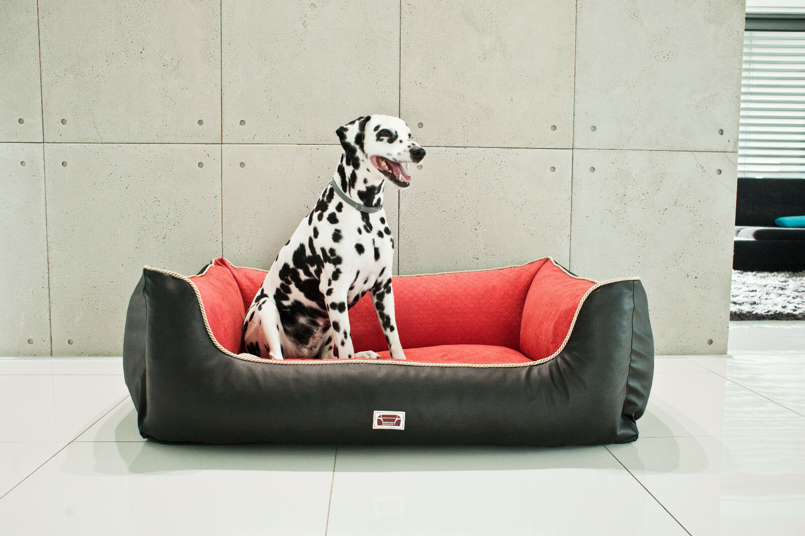 DOG LUX BED - M SIZE- VISCO ORTHOPEDIC FOAM - WASHABLE COVER