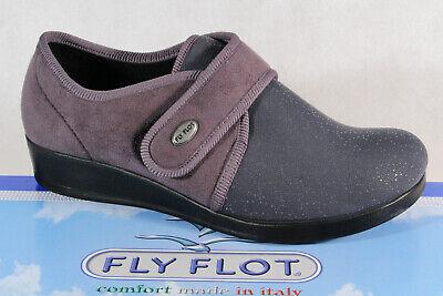 Fly Flot Damen Hausschuhe Pantoffel grau Weite H Neu! | eBay