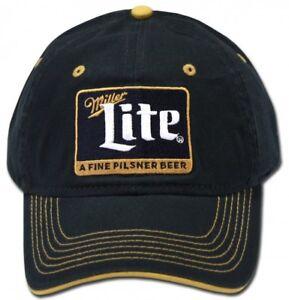 Miller-Lite-Beer-Bier-Cap-Kappe-Snapback-Verschluss-Blau