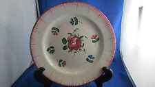 ancienne assiette faience de l'est peinte decor floral rose oeillet fleur 18e