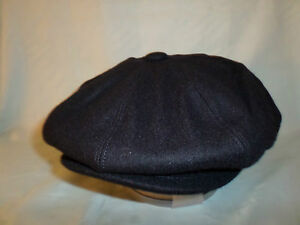 NAVY-BLUE-RETRO-1920-S-1930-039-S-VICTORIAN-EDWARDIAN-PEAKY-BLINDERS-STYLE-CAP
