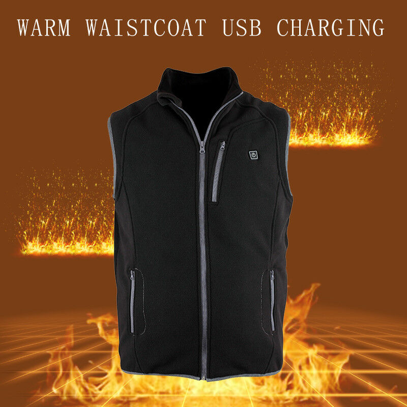 USB Electric Heated Warm Vest & shoes Insole Rechargeable Heating Coat Skiing