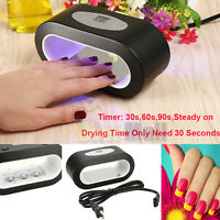Black 9w Led Nail Art Uv Lamp Light Dryer Curing Machine Gel Polish 30s/60s/90s
