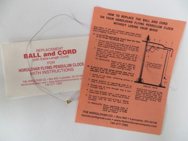 Horolovar Ball & Cord for the Horolovar Flying Pendulum Clock - Ignatz