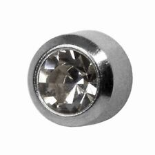 Studex Ear Piercing Mini Titanium April Birthstone / Crystal Stud Earrings 2mm