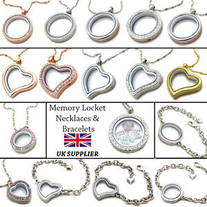 Living memory locket pendants necklaces bracelets for floating image is loading living memory locket pendants necklaces amp bracelets for aloadofball Image collections