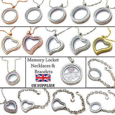 Living Memory Locket Pendants Necklaces & Bracelets For Floating Charms