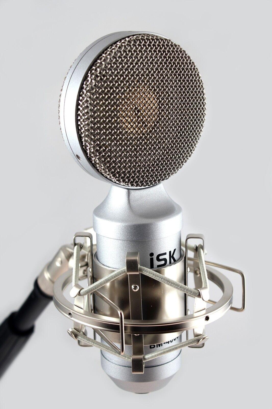 ISK BM4000 Micrófono Condensador Condensador Condensador de Estudio + Montaje Flotante  gran selección y entrega rápida