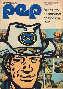 PEP 1970  nr. 21 - BLUEBERRY(COVER)/VAN KOOTEN & DE BIE/CUBY BLIZZARDS/WK 1970