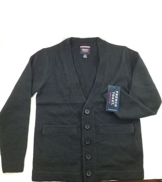 French Toast Boys School Uniform Anti-Pill Cardigan Sweater Size 4-20