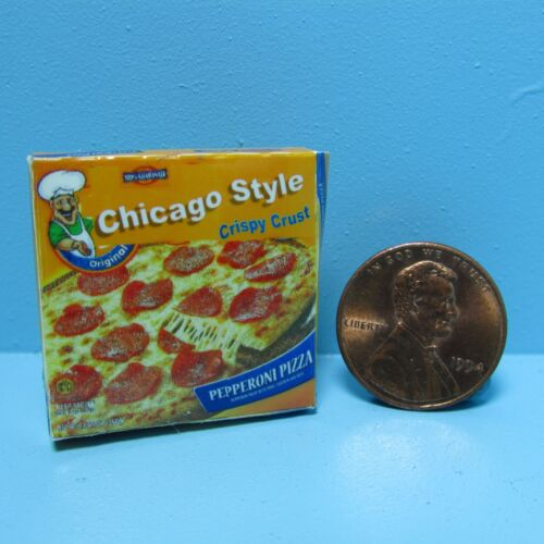 Dollhouse Miniature Replica box of Chicago Style Pizza ~ G056
