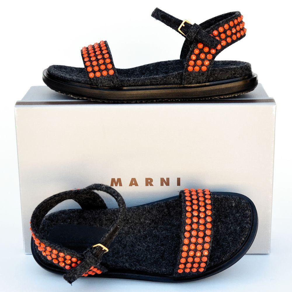 Marni Nuevas Talla Talla Talla 41 - 11 Auténtico Diseñador Sandalias De Mujer Zapatos Bajos Zapatos diapositivas  970  vendiendo bien en todo el mundo