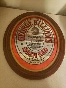 Vtg Adolph Coors 1981 George Killian's Irish Red Beer Bar Mirror Sign *NICE*