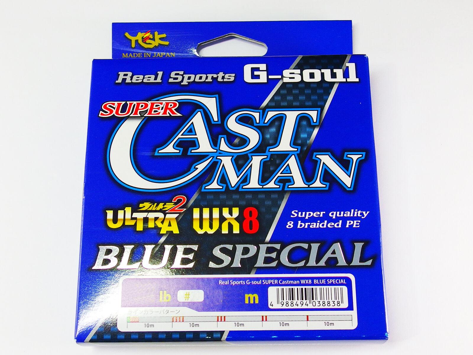 YGK - Real Sports G-SOUL SUPER CASTMAN WX8 blueE SPECIAL 300m lb