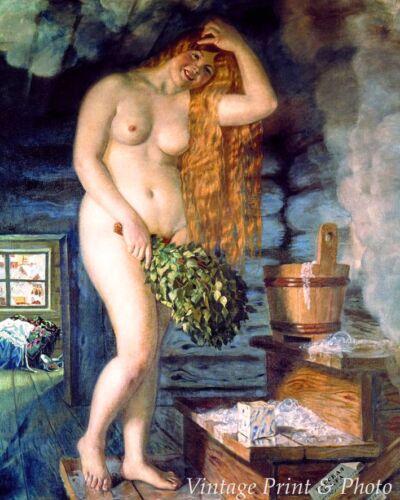 Art Nude Woman Sauna Steam   8x10 Print 0388 Russian Venus by Boris Kustodiev