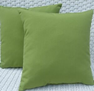 2 pack kiwi green decorative indoor outdoor throw toss pillow made in usa ebay. Black Bedroom Furniture Sets. Home Design Ideas