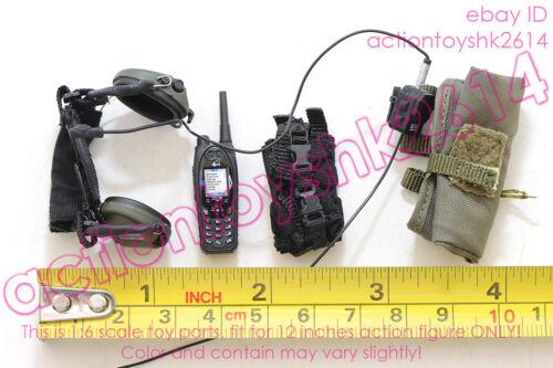 1//6 78061 DAMTOYS FRENCH POLICE UNIT RAID IN PARIS RADIO //HEADSET //POUCH