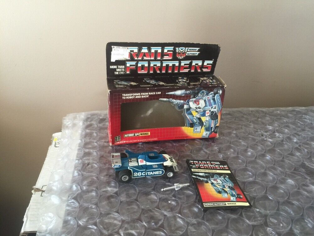 Transformers G1 Lot  Vintage Autobot Mirage  Action Figure With Box