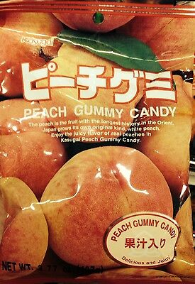 Kasugai Gummy Japanese Candy Peach
