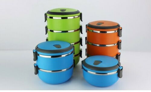 4 Layers Stainless Steel Thermal Insulated Lunch Box Bento Food Container Handle