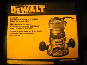 DEWALT-DW618-2-1-4-HP-EVS-Fixed-Base-Router-With-Soft-Start-New