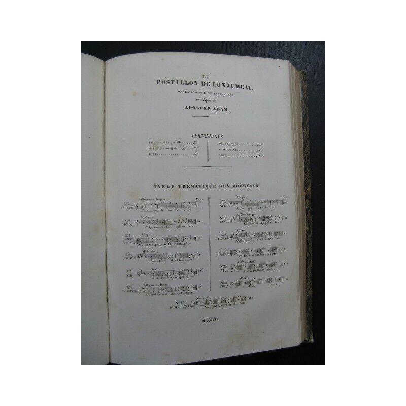 HALÉVY HALÉVY HALÉVY F. l.'Blitz ADAM A. der Postillion von lonjumeau Opera ca1840 Partitur d510ab