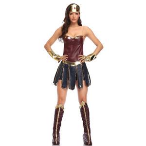 Adult Wonder Woman Costume Movie Superhero Diana Cosplay Fancy Dress